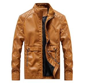 Мужские модные дизайнерские куртки Новые меховые весенние и осенние кожаные куртки Мотоциклетные куртки Мужчины повседневная одежда