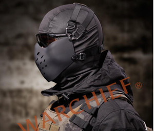 Maschera Maschera di protezione mezza CS protezione del campo di Halloween giocattoli divertenti per il gioco all'aperto proteggono caccia maschera airsoft