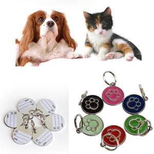 Anti-Lost Pet Dog Cat Nome Indirizzo Etichetta Tag Pet ID Carta di identità Ciondolo a cuore Pet Name Pendenti dog tag 2.5 * 2.5CM