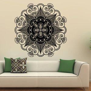 Décoration de la maison Mandala Fleur Indien Chambre Sticker Art Stickers Murale Home Vinyl Family sticker mural Déco Maison