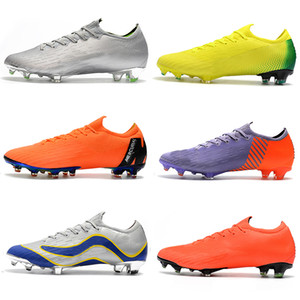 Mens Low cheville Bottes Football Game Over Mercurial Vapors XII Elite FG Chaussures de soccer Neymar ACC Superfly Vapeurs VII 360 CR7 Crampons