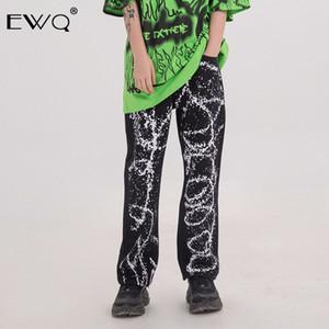 EWQ / 2020 primavera y el verano nueva ropa de moda de los hombres Aerosol de Graffiti impresión pantalones casuales para hombres y mujeres pantalones 9Y512