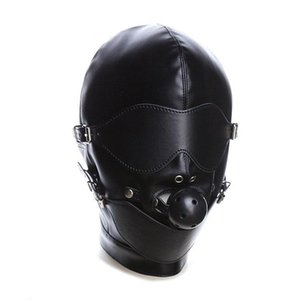 Wet Sexy Look Gimp Mask Quality Breavyfold Hood Hook Hook Bondage Rôle-Play # R45 Qxaba