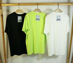 20ss vetements camiseta muelle 100% algodón de alta calidad tamaño de la UE vetements top camisetas camiseta de los hombres de las mujeres