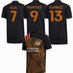 2020 2021 Houston Maillots de football Dynamo ELIS RAMIREZ MANOTAS 20 21 MLS football hommes et Enfants Chemise
