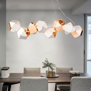 LED avize İskandinav oda süspansiyon armatürü yatak odası asılı ışıklar yaşayan lambası loft deco aydınlatma armatürleri asma