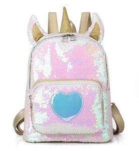 2019 новый единорог рюкзак девушка мода блестками рюкзак мультфильм милый рюкзак дорожная сумка