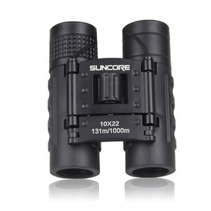 Hot Sale Suncore Hunting Pocket Binoculars Hd 10X22 Binoculars Professional Telescope Zoom Vision Lightweight Black