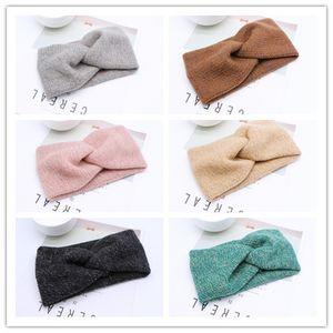 Mulheres Winter malha Knot Headband Ear Warmer Hairband Lady Crochet grande extensão Headwrap Turbantes