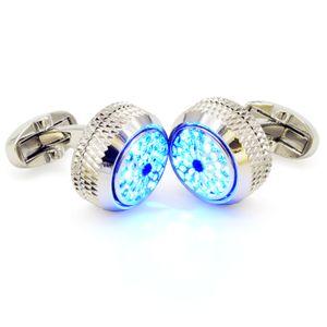 smokin saf bakır aydınlatma LED kol düğmeleri iş mezuniyet töreni için Erkek gömleklerinin kol düğmeleri Noel hediyesi kaplama