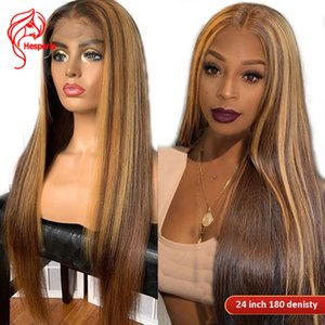 Cheap Human Hair Hesperis 360 Lace Frontal Wigs Pre Plucked13x6 Highlight Lace Front Human Hair Wigs Brazilian Remy Colored Blonde