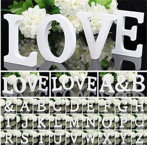 1 pz 10.5*10*1.2 cm Home Decor Decorazione di spessore di legno lettere bianche alfabeto per la Cerimonia Nuziale Festa Di Compleanno puntelli Vendita Calda 1 2zn Z