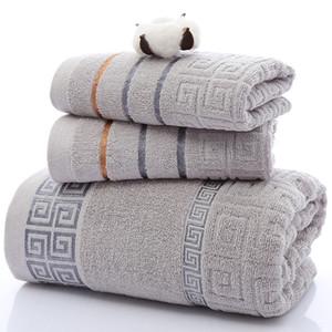 3шт Luxury 100% хлопок Soft Ванна вышитое полотенце НАБОР махровые полотенца Взрослые высокого качества лица Полотенца ванной полотенце наборы