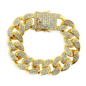 020 Chaoren's Domineering, Inlaid, Cuban Wide Bracelet, European And American Hip-hop, Men's Dragon Button, Large Bracelet,