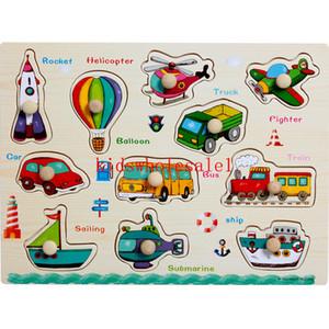 Di alta qualità 30 * 22 cm in legno Big 11 Pezzi Cartoon Puzzle Baby Puzzle Jigsaw bambini giocattolo educativo di legno Ragazza Boy Gifts