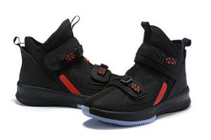 Наши оптовые 2020 LeBron Soldier 13 Thunder Серый алфавит Soupr Basketbal обувь баскетбол обувь высокого качества, кроссовки размер 7-12