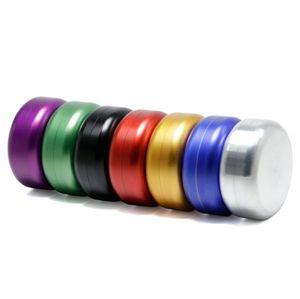 Colorido hilo de aleación de aluminio sello hermético Jar caja de almacenamiento portátil innovador Diseño de la hierba de tabaco de fumar Grinder herramienta de DHL