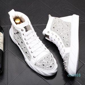 Luxury men rivets sneakers fashion trend rivets Men shoes punk spikes designer sneakers men Casual shoes zapatillas hombre ct03