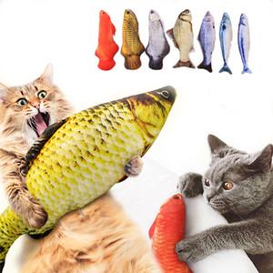 Peluş Yaratıcı 3D Sazan Balık Şekli Kedi Oyuncak Hediye Sevimli Simülasyon Balık Oynama Oyuncak İçin Pet Hediyeler Catnip Balık Dolması Yastık Doll