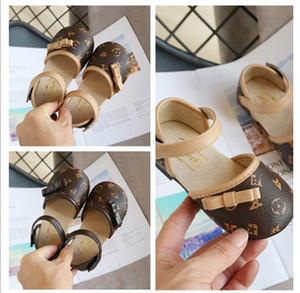 Niños de los zapatos del nudo de la mariposa-HookLoop partido de las muchachas del vestido de la princesa de zapatos Kids School boda individuales