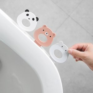 New Cute Cartoon Toilet Cover Lid Cover Toilet Lifting Device Handle Sanitary Portable Handle Bathroom Seat Accessories