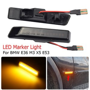 LED Dynamic Turn Signal Light Side Marker Fender Последовательная лампа мигалка для BMW E36 M3 Facelift 1997-1999 X5 E53 1999-2006