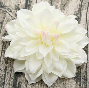 15 cm Artificial dahlia cabezas de flores de seda falsas flores de interior mesa decoración diy flores fondo de la pared decoración del banquete de boda