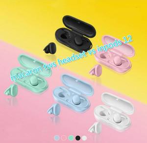 Macaron DT-7 TWS drahtloser Kopfhörer-Kopfhörer Bluetooth Sport-Kopfhörer vs inpods 12 F9 Tour 3 für iphone x 11 Samsung besten Verkauf