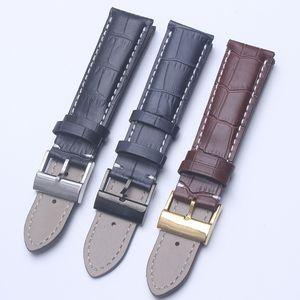 Negro Marrón Azul Correa de reloj de cuero genuino Banda de reloj Bandas de reloj suaves para correa Breitling Hombre 22 mm con herramientas