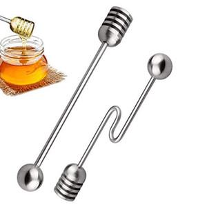 Honey Pot Kavanoz Konteynerleri 6.3 İnç JK2007KD için Bal Kepçe Çubuk Sunucu Şurup Karıştırıcı Paslanmaz Çelik Kaşık Wand