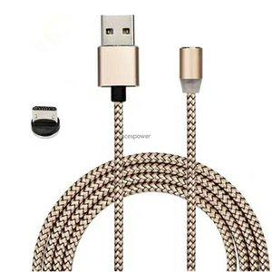 LED USB magnétique Câble USB pour Samsung S20 Ultra Xiaomi Huawei LG vivo Aimant Type de fiche USB C Câbles Micro Non Paquet