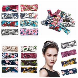 Patrón New Cross Hair Style Band temperamento impresión elástico frente ancha banda diadema ornamento 16styles RRA2817
