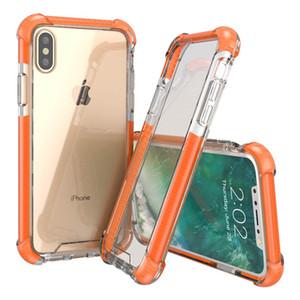 Miglior difensore Quattro angoli ispessite chiaro di anti-caduta acrilico eccellente iphone teca di vetro, più di TPU 3 in 1 cassa del telefono cellulare iphone x xs xr xsma