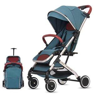 Léger alliage d'aluminium de haute paysage poussette bébé portable simple pliant Absorbeur bébé à quatre roues Chariot 0-4Y