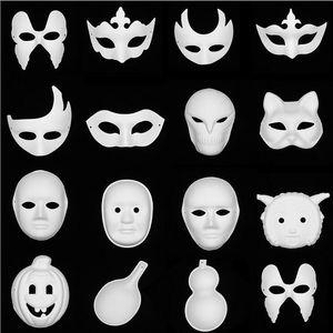 Farbige zeichnung partei masken gesicht malerei anonyme maske venedig cut carving leere masken für kindergarten diy bastelbedarf