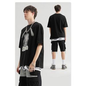 Männer Designer-T-Shirts 2020 Sommer-heiße Verkaufs-Männer Marke gedruckt Tees Tops Mens Vintage-Tide-Straße Tshirts Hiphop Lose Tees Hot Sell