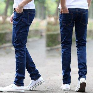 Zacoo hombres ocasionales de la manera Todo-fósforo de los pantalones vaqueros de pierna recta