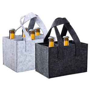 Felt Wine Bag Beer Bottle Shopping Tote Tinto Wine Bottle Pouch Wedding Party Camping Carrier Package