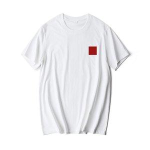 2020 Fashion Men Women T-shirt with Red Heart Print Popular Red Herat Printing T-shirt Couple T-shirt Asian Size