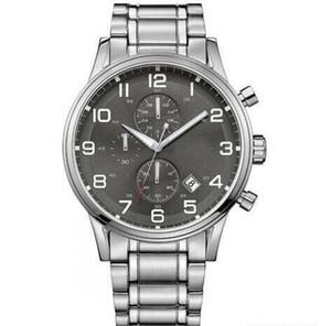 Мода кварцевый хронограф Мужские часы Новый Aeroliner серый циферблат из нержавеющей HB1513181 Часы 1513181 + коробка