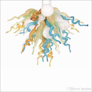 Toptan Düğün Tasarım Ağız Üflemeli Borosilikat kolye Lambalar Avrupa Tarzı Ağız 110v-240v LED Ampüller ile Glass Üflemeli