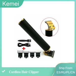 New Kemei 1971 Pro Li T-Outliner Skeleton Heavy Hitter Cordless Trimmer Men 0mm Baldheaded Hair Clipper Finish Hair Cutting Machine