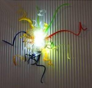 Wall Mounted Murano Glass Art Iluminação LED decorativa abajur de tecido cristal Sconces Vintage Wall Light Banho Sconce