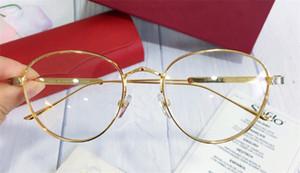 Yeni Erkekler Tasarım Çerçeve Yuvarlak Şekil Altın Kaplama Retro Vintage Stil CA 0016 Unisex Açık Stil Reçete Optik