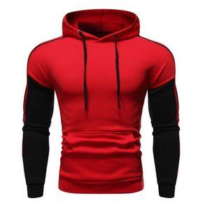 Abbigliamento Uomo Fashion Designer Panelled cappuccio Tops Uomo Primavera Sport Hoodies allentati casuali Pullover
