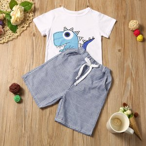 Tracksuit [newborn Baby Boy] Hooded Coat Toddler Kid Baby Girl Cartoon Printing Tshirt+Short Pant Clothes Outfits Set Top
