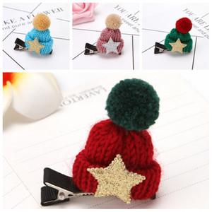 Küçük Şapka Duckbill Klip Tokalar Yıldız Örgü Topu Şapkalar Saç Kadınlar Süsler Noel Dekorasyon 1 1GL H1 Caps