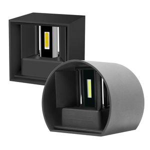 12W Modern Breve Cube Rodada Superfície Ajustável Montado LED Outdoor Wall Light Waterproof arandela Lâmpada Para Corredor Porch