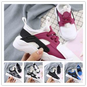 kids New huarache scarpe da corsa per ragazzi e ragazze VARSITY JACKET VIOLA PUNCH triple nero bianco rosa grigio trainer traspirante sport sneak