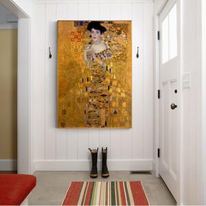 Портрет Адель Блох холст картины на стене Густава Климта Поцелуй Живопись Холст для гостиной
